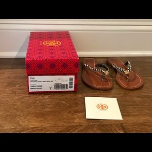 NWT Authentic Tory Burch Terra Thong Sandals